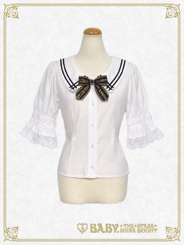 B42BL421 Best Wishes♡ Short Sleeve Blouse