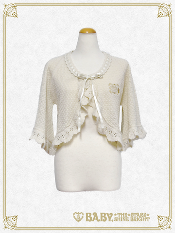 B42BO106 Transparent Knitting Bolero