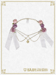 B42HA901	Le Bouquet Éternel Ribbon Barrette & Chain Accessories