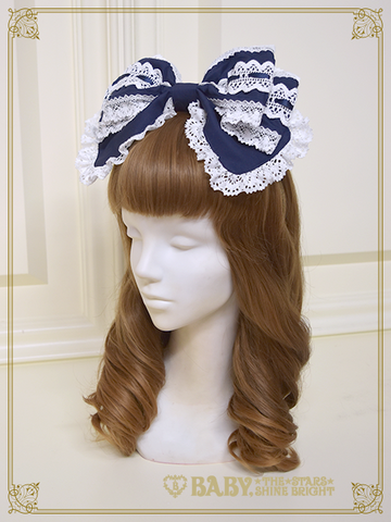 B42HA939 Ribbon Headbow with Ladder Lace