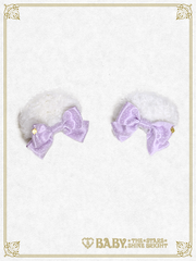 B42HA981 Alice Floret Bear Ear Hair Clip