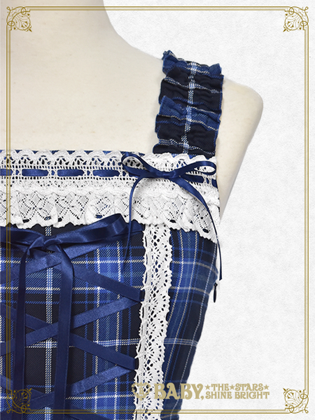 B42JS218 Tartan Check Scallop Jumperskirt