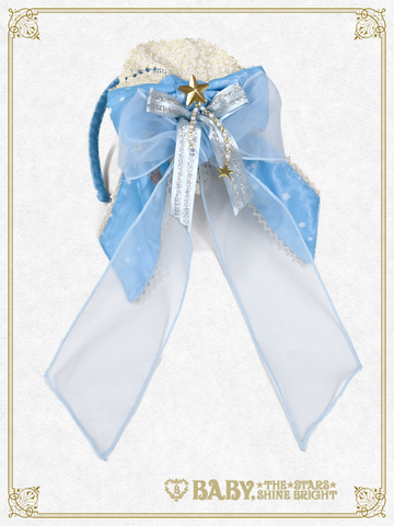 B42OH908 Le Ciel Étoilé ~Night Sky's Gift~ Slanted Ribbon Head Bow