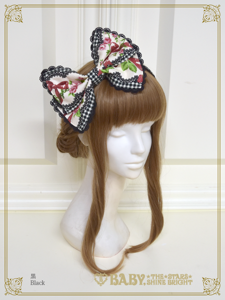 B42OH918 Sweetie Gingham Border Headbow