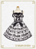 [RESERVATION] B42OJ220 A Little Princess ~Under the Sky of London~ Flock Print Jumper Skirt