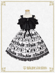 [RESERVATION] B42OJ224 A Little Princess ~Under the Sky of London~ Flock Print Off-Shoulder Jumper Skirt
