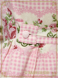 B42OJ229 Sweetie Gingham Border Jumper Skirt I