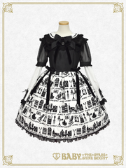 [RESERVATION] B42OP363 A Little Princess ~Under the Sky of London~ Flock Print One Piece Dress