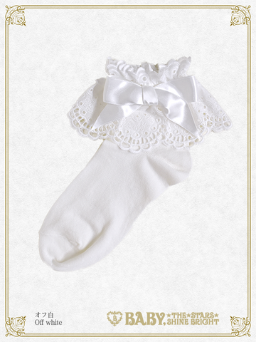 B42SC837 Baby Lace Angel Ankle Socks