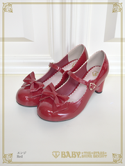 B42SH850 Enamel Ribbon Shoes