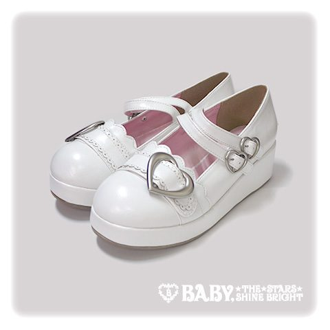 [RESERVATION] B42SH878 Heart Buckle Shoes