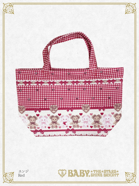 B43BG801	Kumya's Sweet Heart Check Mini Tote Bag