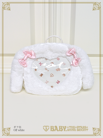 B43BG814-1 Usakumya's Heart Window Rucksack - White
