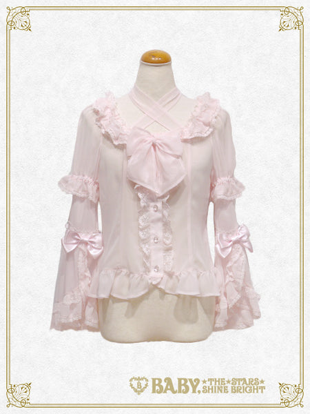 B43BL417 Chiffon Princess Dress Blouse