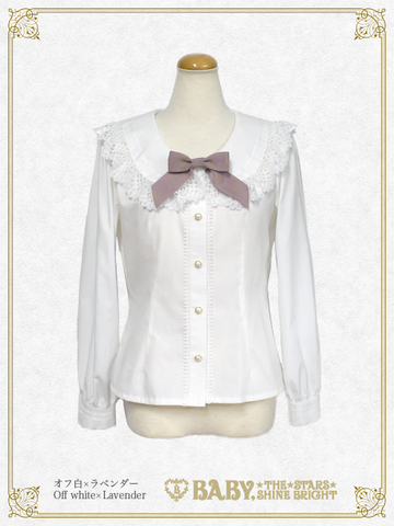 B43BL439 Best Wishes Round Sailor Collar Blouse