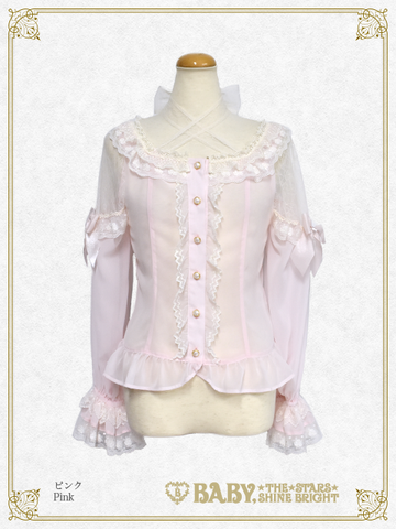 B43BL442 Pearl Bouquet Princess Blouse