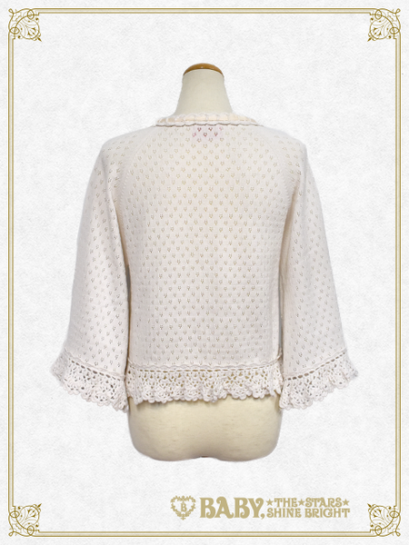 B43BO103 Transparent Knitting Bolero