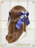 B43HA133 Pearl Bouquet Chain Ribbon Comb