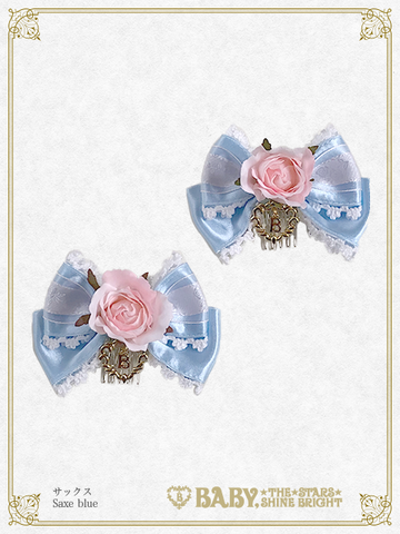 B43HA931 Rose Bouquet Ribbon Comb