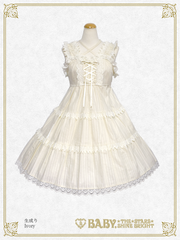 B45JS205 Karami Triple Tiered Jumper Skirt & Headbow Set
