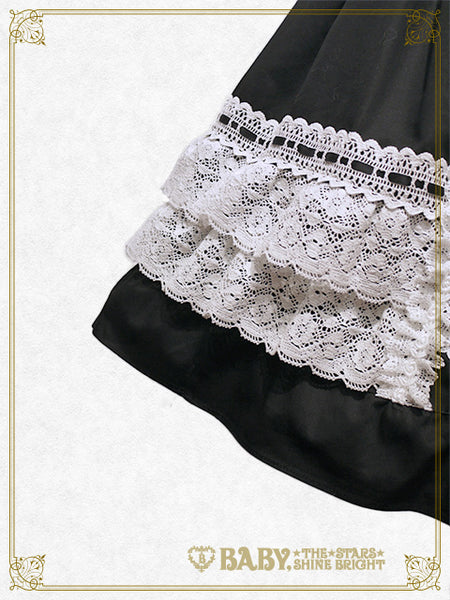 B44JS214 Lace Frill Jumperskirt
