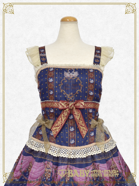 B43OJ224 Schwan~Ludwig's Longing and Imaginary Aria~ Corset Jumperskirt