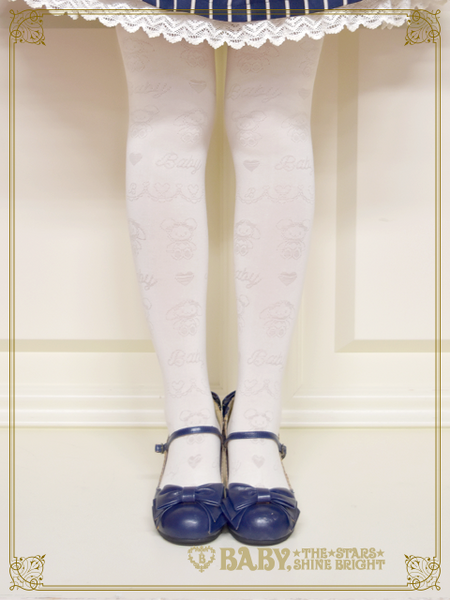 B43SC803 Kumya's Sweet Heart Check Transparent Over Knee Socks
