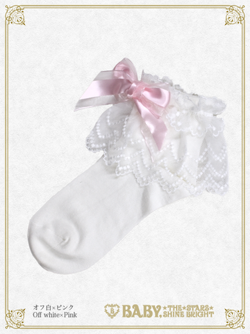 B43SC823 Tulle Lace Ankle Length Socks