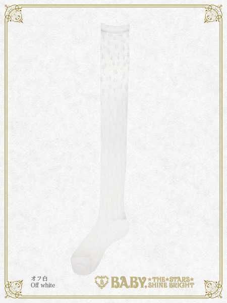 B43SC845 Fairy Crystal Snow See-Through Over Knee Socks