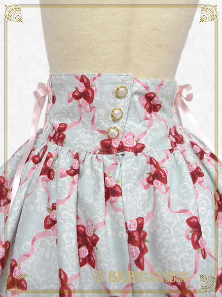 B43SK507 Strawberry Rose Bouquet Skirt