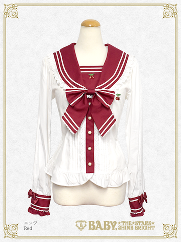 B44BL427 Love and Cherish You Sailor Collar Blouse