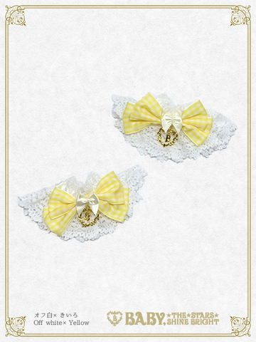 B44CF019 Gingham Ribbon Cuffs