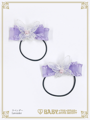B44HA922 Belle Harmonie Papillon Frill Ribbon Hairbands