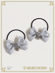 B44HA946 Mini Lame Ribbon Hairbands