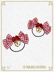 [RESERVATION] B44HA955 Gingham Ribbon Hair Bands