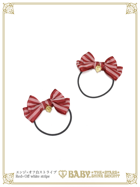 B44HA966 Petits Pois Stripe Mini Ribbon Hairbands