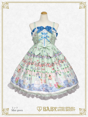 [RESERVATION] B44OJ215 Fairy tale Herbarium~Pouring an Eternity~Ribbon Jumperskirt