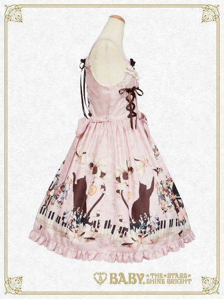B44OJ222 Meow Meow Symphony Lace Up Jumperskirt