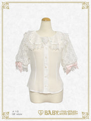 [LOTTERY RESERVATION] B45BL406 Haru-chan's Wish Weaving Flower Embroidery Blouse