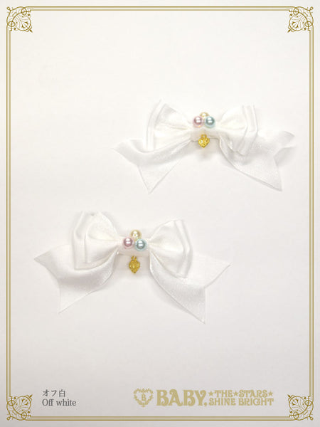B45HA916 Haru chan's Wish weaving Flower embroidery Ribbon Pearl Clip