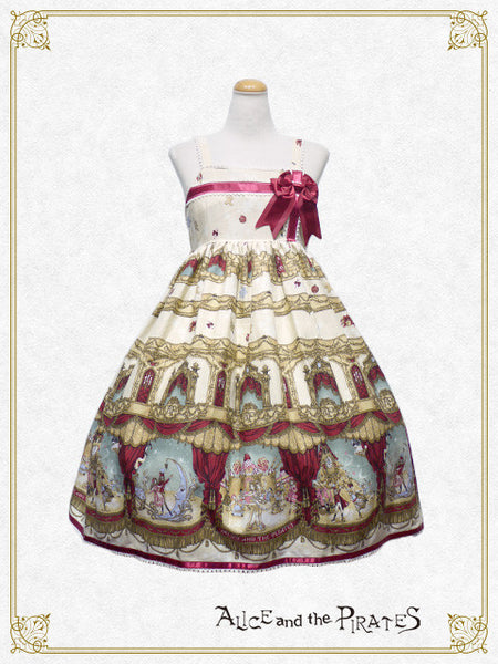 P12OJ225	A Snowy Christmas Eve Mysterious Gift Present Ribbon Jumperskirt