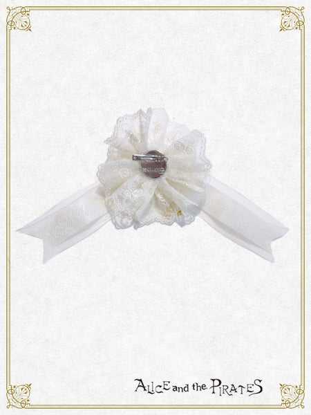 P12OT044 Snow White Ribbon Brooch