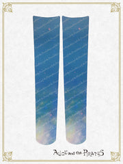 P12SC813 Logo Milky Way Over Knee Socks