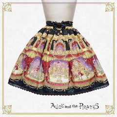 P12SK516 A Snowy Christmas Eve Mysterious Gift Skirt