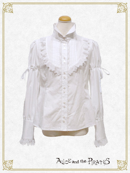 P13BL401 The Silent and Mysterious Beauty Blouse with Tie