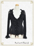 P13CD704 Lace Frill Cardigan
