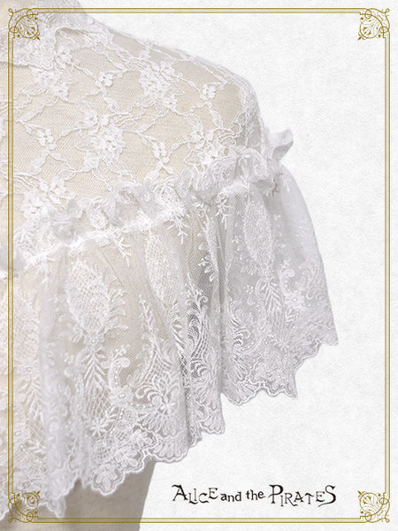 P14CP322 Anastasia Lace Mini Cape