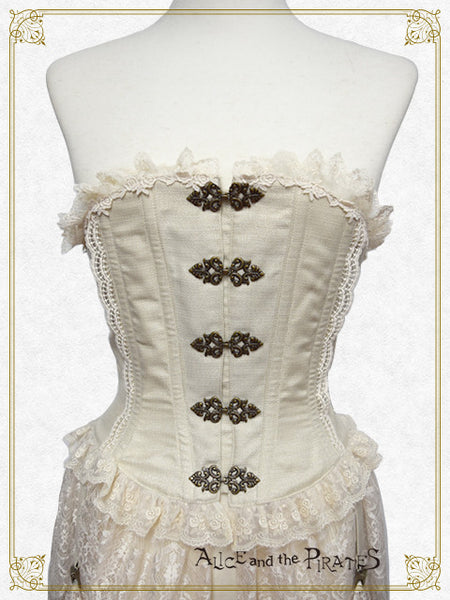 P13CR414 Grace Reed Corset with Lace Train
