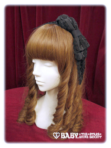 P13HA928 Rose Frill Grosgrain Headbow