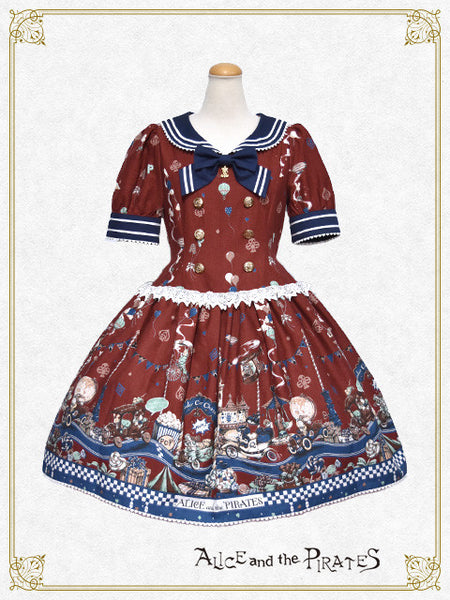 P13OP309 Alice Wonder Car Chase Onepiece Dress